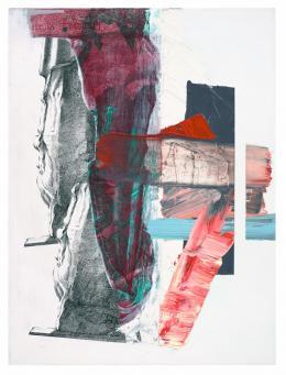 Pia Fries *1955 pylon kM , 2018 Öl und Siebdruck auf Holz,80 × 60 cm Courtesy Mai 36 Galerie, Zürich © 2019, ProLitteris, Zurich Foto: Hans Brändli