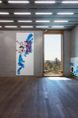 David Reed, #661, 2016. © VG Bild-Kunst, Bonn 2019; Courtesy: Häusler Contemporary München | Zürich · Foto: Häusler Contemporary München | Zürich und reedstudio, New York (Silvia Ros)
