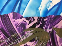 David Reed, #661, 2016 (Detail). © VG Bild-Kunst, Bonn 2019; Courtesy: Häusler Contemporary München | Zürich · Foto: Häusler Contemporary München | Zürich und reedstudio, New York (Silvia Ros)