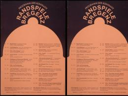 Randspiele Bregenz 1972, Plakatgestaltung (doppelt) Reinhold Luger