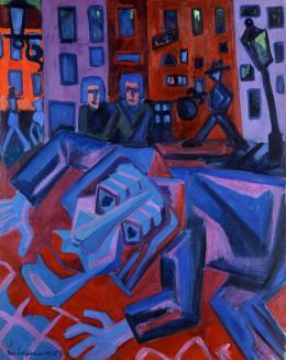 "Max Sulzbachner, Raskolnikoff: ""Ich habe getötet"", 1925. Öl auf Leinwand, H x B: 119.5 x 95 cm, Inv. G 1987.2; Kunstmuseum Basel- Ankauf. Photo Credit: Kunstmuseum Basel, Martin P. Bühler"