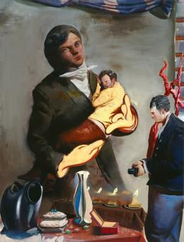 Neo Rauch, Vater, 2007 (c) Sammlung Ruth. Courtesy Galerie EIGEN + ART Leipzig/Berlin und David Zwirner New York/London/Hong Kong.  Foto: Uwe Walter, Berlin, Bildrecht Wien, 2019