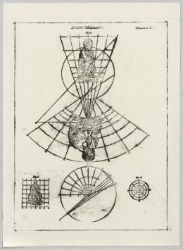 Matt Mullican, Blatt aus: Untitled, 1990/1991, Frottage mit Ölkreide auf Velin, 66.5 × 48.5 cm, Graphische Sammlung ETH Zürich © Matt Mullican