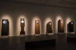 "Ausstellungsansicht, ""Real Time, Grandfather Clocks"", (Maarten Baas, 2009-2015) ©  Photo credits: Hannes Rohrer"