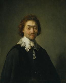 Rembrandt Harmensz. van Rijn (1606–1669) Maurits Huygens, Sekretär des Staatsrats in Den Haag, 1632 Öl auf Eichenholz, 31,1 x 24,5 cm © Hamburger Kunsthalle / bpk Foto: Elke Walford