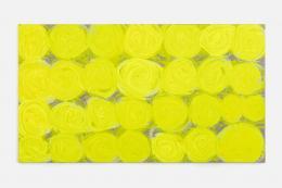 Renée Levi, Simona, 2019, 190 x 340 cm, Acryl auf Baumwolle (© Giulio Boem)