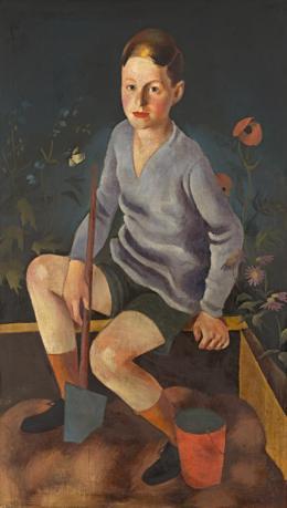 Richard Ziegler, Knabe im Sandkasten, 1926, ©VG Bild-Kunst, Bonn 2019, Repro: Kai-Annett Becker