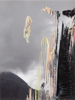 Gerhard Richter, 8. Juni 2016 (7), 2016, Öl auf Fotografie, 16,7 × 12,7 cm, Privatsammlung  © Gerhard Richter