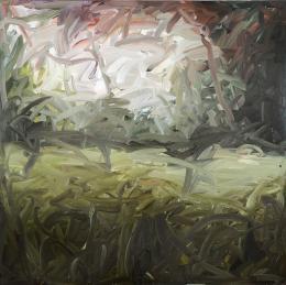 Gerhard Richter, Dschungelbild, 1971, Öl auf Leinwand, 200 × 200 cm, Privatsammlung, Courtesy Ceylan Ecer; Foto: Courtesy Sotheby's © Gerhard Richter