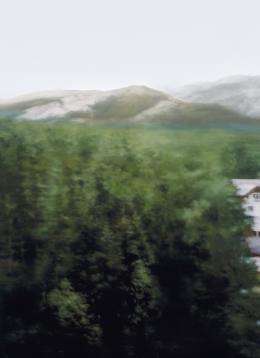 Gerhard Richter, Waldhaus, 2004, Öl auf Leinwand, 126 × 92 cm, Privatsammlung © Gerhard Richter