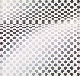 Bridget Riley Hesitate , 1964 Dispersion auf Hartfaserplatte 107 x 113 cm Tate, London, presented by the Friends of the Tate Gallery 1985 Foto: © Tate, London 2019 © Bridget Riley 2019. All rights reserved