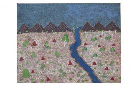 Rita Beasley Apetyarr, Sacred River, 2003. Sammlung Pierre und JoeÌlle CleÌment