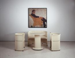 Robert Örley, Sitzgruppe, um 1911, Nachlass Peter und Christine Kamm, Egon Schiele, Porträt des Malers Hans Massmann, 1909  Kunsthaus Zug