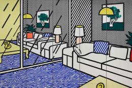 Roy Lichtenstein, Wallpaper with blue Floor Interior, 1992, Siebdruck, Albertina, Wien © Estate of Roy Lichtenstein/Bildrecht, Wien, 2021