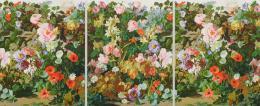 Rudolf Stingel: Untitled, 2018. Öl auf Leinwand, 241.3 x 589.3 cm; 3 Teile, je 241.3 x 193 cm; © Rudolf Stingel. Foto: John Lehr