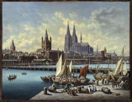 Hubert Sattler: Köln am Rhein, 1890-1900, Öl auf Leinwand (© Salzburg Museum)