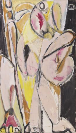 Lee Krasner, Prophecy, 1956, 147,6 × 86,4 cm, Private Collection. © Pollock-Krasner Foundation/VG Bild-Kunst, Bonn 2019. Courtesy Kasmin Gallery, New York. Photograph by Christopher Stach