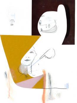 Käthe Schönle, 2020, Bleistift, Collage auf Papier 29,7 x 21 cm