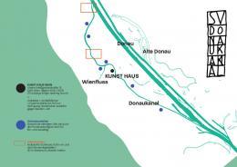 Karte des Donaukanals mit Schwimmstell und –verbotszonen © Schwimmverein Donaukanal