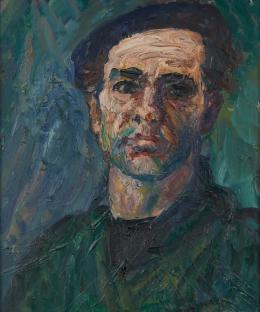 Heinz Schwarz (1920–1994), Selbstbildnis, 1963, Öl auf Leinwand, 65 x 64 cm, Kunstmuseum Solothurn