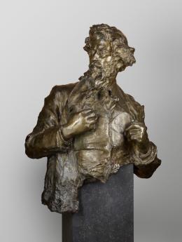 Paul Troubetzkoy (1866–1938), Giovanni Segantini, 1896 Bronze, 98 × 78 × 43 cm, Staatliche Museen zu Berlin, Nationalgalerie Foto: Staatliche Museen zu Berlin, Nationalgalerie - Andres Kilger