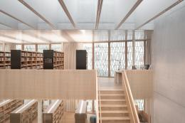 Stadtbibliothek Dornbirn, Vorarlberg, Architektur: Dietrich Untertrifaller Architekten und Christian Schmölz, Foto: © Aldo Amoretti