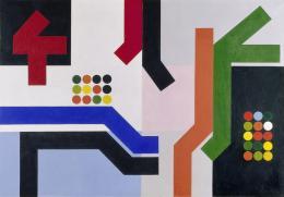Sophie Taeuber-Arp, Douze espaces, 1939 Öl auf Leinwand, 80,5 x 116 cm Kunsthaus Zürich, Geschenk Hans Arp, 1958