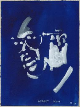 Albert King (Blues Men), 2018 Aquarell auf Papier, 38 x 28 cm (Serie, 1 von 20) Courtesy of the artist und Peter Freeman, Inc., New York © Thomas Schütte | Bildrecht, Wien, 2019