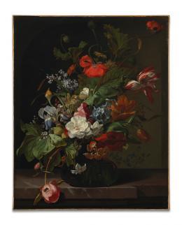 Rachel Ruysch (1664-1750), Blumenstillleben, um 1700 Innsbruck, Tiroler Landesmuseum Ferdinandeum, Ältere Kunstgeschichtliche Sammlungen, Inv.Nr. Gem 684 Foto: Tiroler Landesmuseen