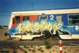 Graffiti auf Zug, 2001, Anonyme Einreichung, Urheber unbekannt