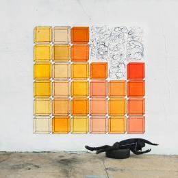 Robin Rhode UNDER THE SUN 2017 36 individual C - prints each: 50 cm x 50 cm / 52,6 cm x 52,6 cm (framed) © Courtesy: The Artist