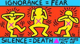 Keith Haring: Ignorance = Fear, Silence = Death 1989; Courtesy Keith Haring Foundation
