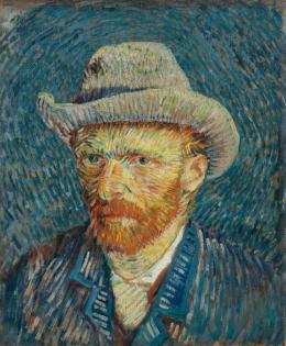 Vincent van Gogh, Selbstbildnis mit grauem Filzhut, 1887 Öl auf Leinwand, 44,5 x 37,2 cm Van Gogh Museum, Amsterdam (Vincent van Gogh Foundation)