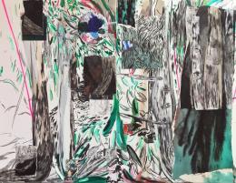 Veronika Dirnhofer, Walden, 2019 Mischtechnik, Collage auf Karton, 2teilig,179 x 220 cm, Courtesy Galerie 3, Klagenfurt, Foto: Veronika Dirnhofer