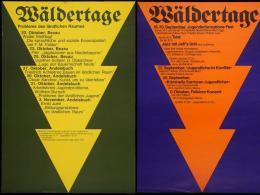 Wäldertage 1973/74, Plakatgestaltung Reinhold Luger