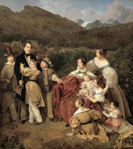 Ferdinand Waldmüller, Familie Eltz, 1835 (c) Belvedere, Wien, Ankauf aus Privatbesitz, unter Mitwirkung des Vereins der Museumsfreunde, Wien