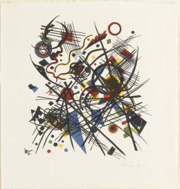 Wassily Kandinsky, Komposition (Blatt 8 in: Bauhaus-Drucke. 4te Mappe), 1922 (1923), Staatsgalerie Stuttgart, Graphische Sammlung