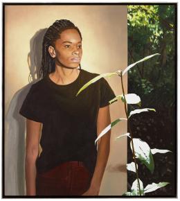 Martin Schnur, In sich selbst im Rhythmus der Pflanze #2, 2021, Öl auf Leinwand, 93 x 83 cm © Courtesy: Bechter Kastowsky Galerie und der Künstler, Fotocredit: Daniela Beranek, Wien