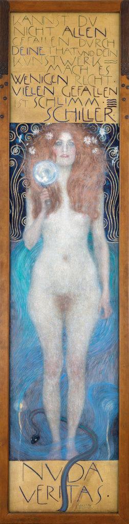 Gustav Klimt (1862–1918), Nuda Veritas, 1899 Theatermuseum © KHM-Museumsverband