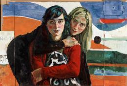 Xenia Hausner, Adler und Engel, 2005, Acryl auf Hartfaser und Karton Albertina, Wien – Sammlung Batliner © Bildrecht, Wien, 2021