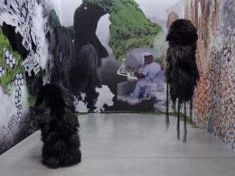 """Haegue Yang: Ausstellungsansicht """"Chronotopic Traverses"""", La Panacée - MoCo, Montpellier, France, 2018. In Zusammenarbeit mit Manuel Raeder"""