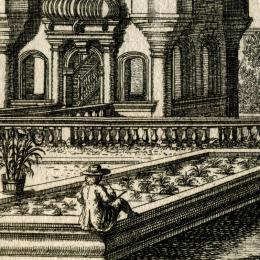 Johann Andreas Graff: Johann Andreas Graff als Zeichner im Gartenanwesen der Familie Varget, 1688. Bildnachweis: Museen der Stadt Nürnberg, Kunstsammlungen